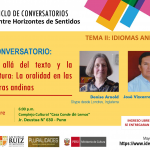 """INVITACIÓN V CONVERSATORIO: V Ciclo de Conversatorios """"Entre Horizontes de Sentido"""""""