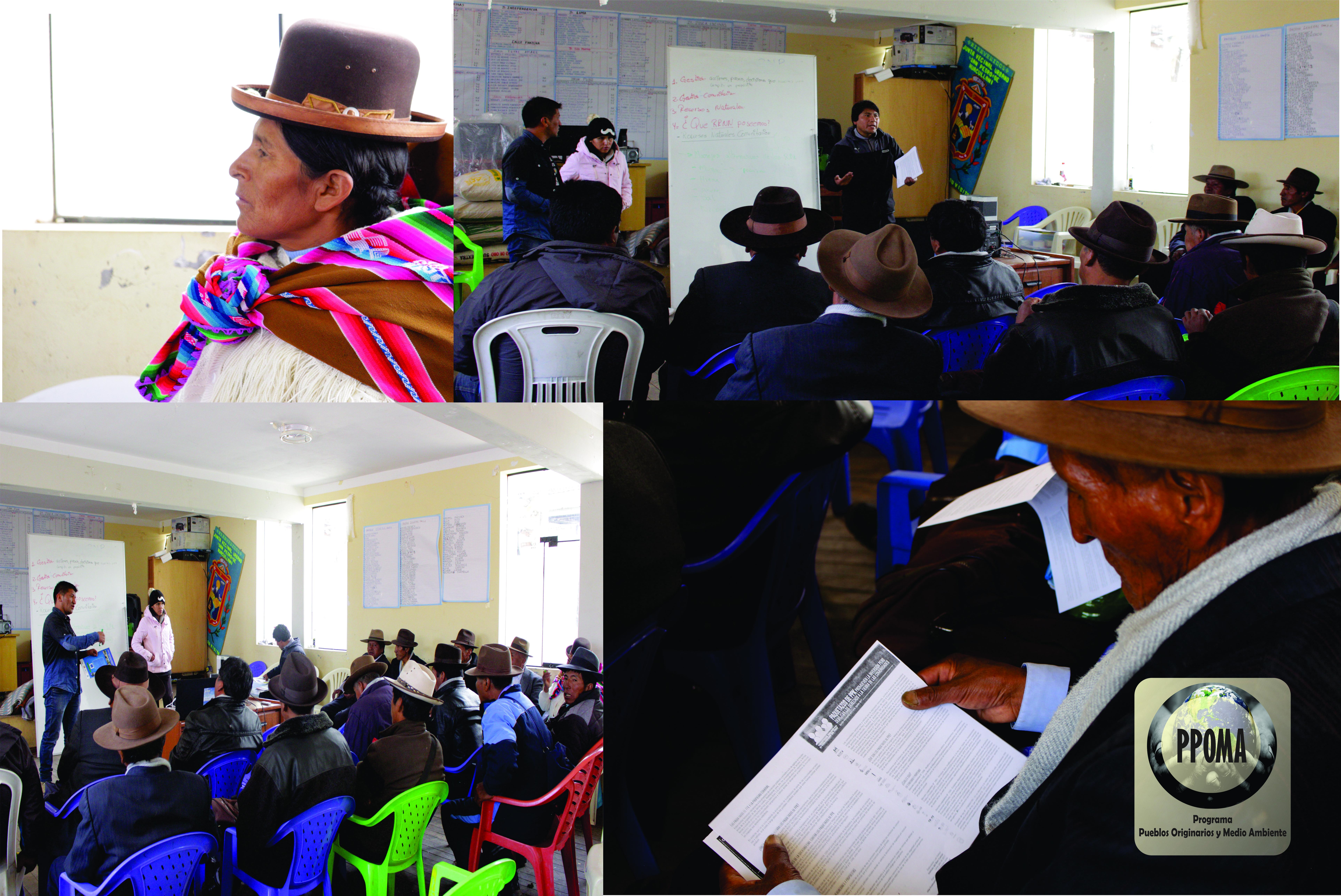 Realización del VII Taller de Fortalecimiento: ¨Gestión Comunitaria de Recursos Naturales¨, con los presidentes de las comunidades y distrito de Huacullani.